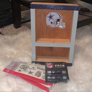 Dallas Cowboys Shot Glass Shelf